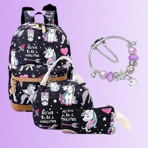 Other - Brand New Unicorn Bags + Bracelet Set